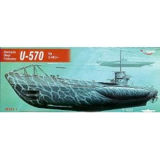 Mirage Hobby 1/400 Немецкая подводная лодка U-570 Type VIIC. № 40411