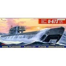Mirage Hobby 1/400 Немецкая подводная лодка U-673 Type VIIC Turm II. № 40412