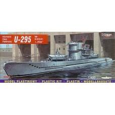 """Mirage Hobby 1/400 Немецкая подводная лодка U-295 Typ VIIC/41 +""""Biber"""". № 40414"""