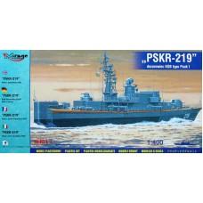 Mirage Hobby 1:400 Советский пограничный сторожевой катер проекта 1241.2 Молния-2 «ПСКР-219» Pauk I. № 40423