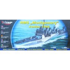 "Mirage Hobby 1/400 Британский эсминец HMS ""Montgomery"" (конец 1942). № MIH_40607"