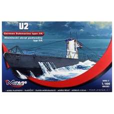 Mirage Hobby 1:400 Немецкая подводная лодка U2 (Type IIA). № 40023