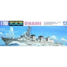Aoshima 1/700 Современный японский эскадренный миноносец JMSDF «Onami». № 029978