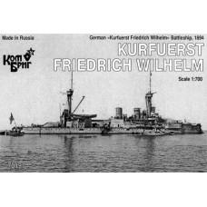 Combrig Models 1/700 Германский эскадренный броненосец SMS «Kurfurst Friedrich Wilhelm» (1894 год). № 70197