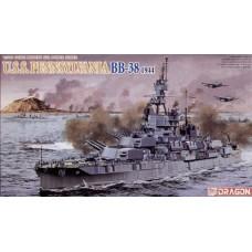 Dragon 1:700 Американский головной линкор USS «Pennsylvania» BB-38 (1944 год). № 7041