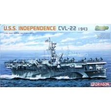 Dragon 1/700 Американский лёгкий авианосец USS «Independence» CVL-22. № DRA_7054