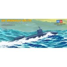 Hobby Boss 1/700 Американская атомная подводная лодка USS «Greeneville» (SSN-772). № HOB_87016