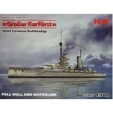 ICM 1/700 Германский линкор «Grosser Kurfuerst» WW1. № ICM_S.015