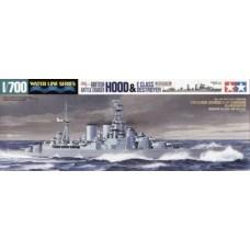 Tamiya 1/700 Британский линейный крейсер Hood (эсминец серии Е в комплект не входит). № 31806