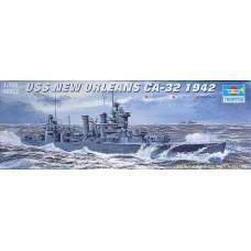 Trumpeter 1/700 Американский тяжелый крейсер USS «New Orleans» CA-32, 1942 год. № 05742