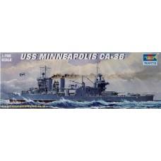 Trumpeter 1/700 Американский тяжелый крейсер «Minneapolis» BB-43, 1942 год. № 05744