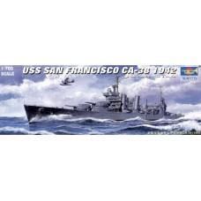 Trumpeter 1/700 Американский тяжелый крейсер USS«San Francisco» CA_38, 1942 год. № 05746