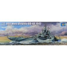 Trumpeter 1/700 Американский линкор USS «West Virginia» BB-48, 1945 год. № 05772