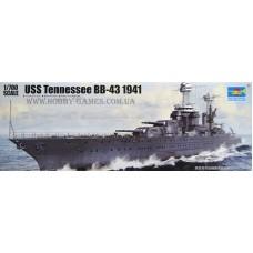 Trumpeter 1/700 Американский линкор USS «Tennessee» BB-43, 1941 год. № 05781