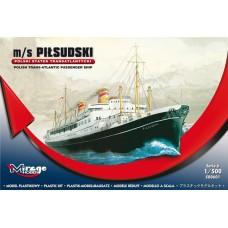 """Mirage Hobby 1/500 Польский океанский лайнер """"MS Pilsudski"""". № 500601"""
