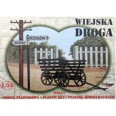 Mirage Hobby 1/35 Телега, забор и указатель направления (Проселочная дорога). № 35221