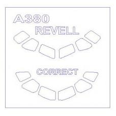 KV Models 1/144 Маска-трафарет для самолёта Airbus 380 (Revell). № KVM_14300