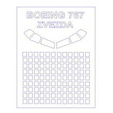 KV Models 1/144 Маска-трафарет для самолёта Boeing 767 (Zvezda). № KVM_14417