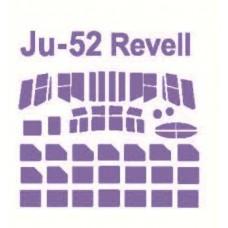 KV Models 1/144 Маска-трафарет для самолёта Ju-52/3M (Revell, Eduard). № KVM_14488