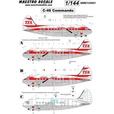 Maestro Models 1/144 Декаль C-46 Commando decal TransAir. № 14401