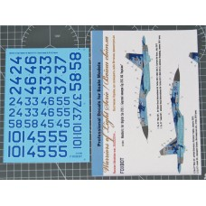 Foxbot 1/32 Декаль Бортовые номера для Су-27 ВВС Украины, цифровой камуфляж. № FOX_32-004