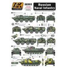 AK Interactive 1/35 Декаль бронетехника российской морской пехоты. № AK803
