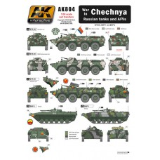 AK Interactive 1/35 Декаль Чеченская война, военная техника. № AK804