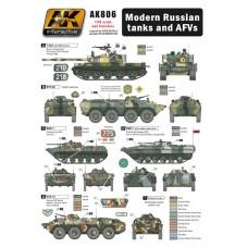 AK Interactive 1/35 Декаль современные российская военная техника. № AK806