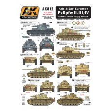 AK Interactive 1/35 Декаль Axis & East European PzKpfw II/III/IV. № AK812
