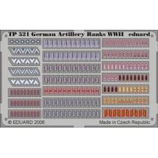 Eduard 1/35 Знаки Отличия Германских Артиллеристов Второй Мировой войны. № TP521