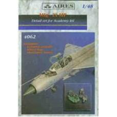Aires 1/48 Конверсионный набор: Super Detail Set для самолета МиГ-21МФ. № 4062