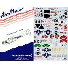 AeroMaster 1/48 Декаль P-38J/L Lightnings in the Sky. № 48-036