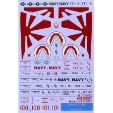Authentic Decals 1/48 Декаль Northrop F-5N/F VFC-111 Sundowners NAVY Agressors. № AD48-33