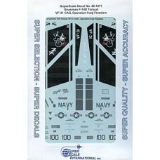 Superscale 1:48 Декаль Grumman F-14D Tomcat: VF-31 CAG, Operation Iraqi Freedom. № 48-1071