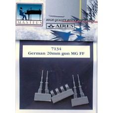 Aires 1/72 Конверсионный набор: Немецкие пушки 20mm MG FF. № 7134
