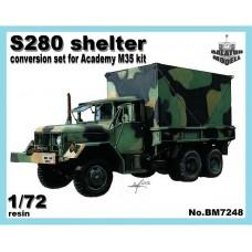 Balaton Modell 1/72 Конверсионный набор: S-280 кунг для модели Academy M35. № BM7248