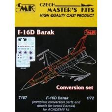 """CMK 1/72 Конверсионный набор: Истребитель F-16D """"Barak"""" в ВВС Израиля. № 7157"""