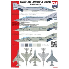 """CtA 1/72 Декаль """"Romeo Fox, Specter & Others"""" - RF-4B of VMFP-3, Low visibility markings. № CtA-001"""