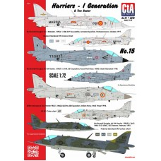 CtA 1/72 Декаль Harriers - 1st Generations & Two Seater, Spain, Thailand, India, USA, 6 Вариантов. № CtA-015