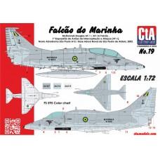 """CtA 1/72 Декаль """"Falcão do Marinha"""", A-4M (AF-1, AF-1A) Skyhawk, палубные самолёты ВМС Бразилии, 2 Вариантов. № CtA-019"""