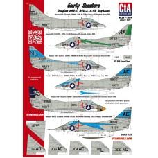 "CtA 1/72 Декаль ""Early Scooters"" - Douglas A4D-1, A4D-2, A-4B Skyhawk, 11 Вариантов. № CtA-026"