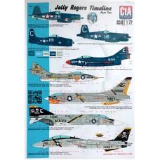 """CtA 1/72 Декаль самолеты эскадрильи """"Jolly Rogers """", часть №2. № CtA-006"""