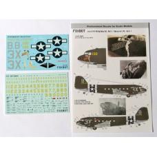 Foxbot 1/72 Декаль Douglas C-47 Pin-Up Nose Art с техническими надписями (Часть 1). № 72-017
