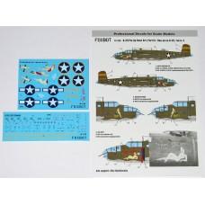 "Foxbot 1:72 Декаль North American B-25C/D Mitchell  ""Pin-Up Nose Art"" с техническими надписями (Часть 4). № 72-026"