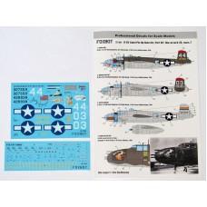 "Foxbot 1:72 Декаль North American B-25G/J Mitchell Late, ""Pin-Up Nose Art"" с техническими надписями (Часть 7). № 72-041"