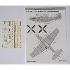 Foxbot 1:72 Декаль технические надписи на North American P-51 Mustang. № 72-046