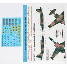 """Foxbot 1:72 Декаль Су-25 ВВС Украины """"Ukrainian Rooks"""". № 72-055"""