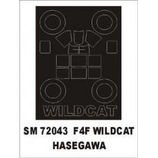 Montex 1/72 Маска F4F Wildcat (for Hasegawa). № SM72043