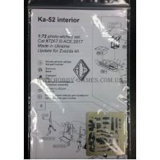 ACE 1/72 Фототравление для вертолёта Ка-50 (интерьер). № PE7267