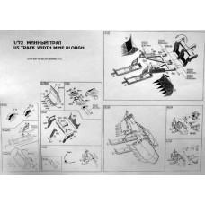 ACE 1/72 Фототравление: Американский минный трал для танков М-60, Abrams M-1. № PEXX001